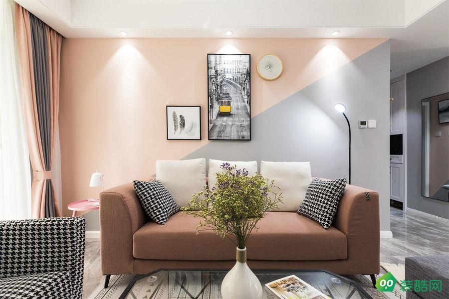 益陽藝美空間-120平米簡約三室裝修效果圖
