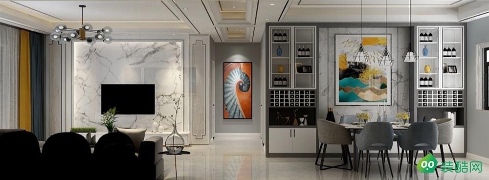 朝陽-三居室-135平米-現代裝修效果圖