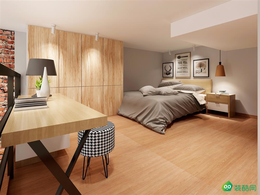 52平米两居室-北欧风格装修效果图