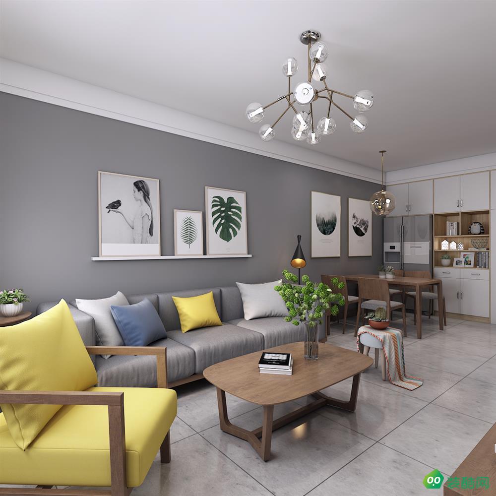北欧风格二居室93平装修案例