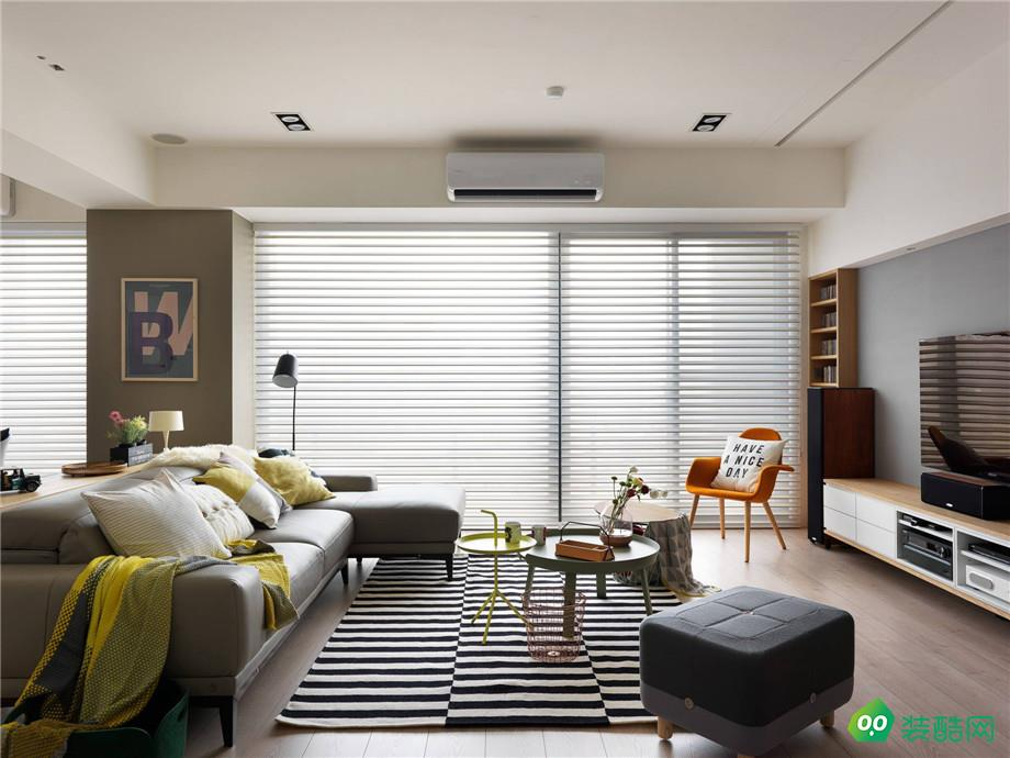 龙源府邸89平米北欧风格三居室装修案例图片-九天装饰