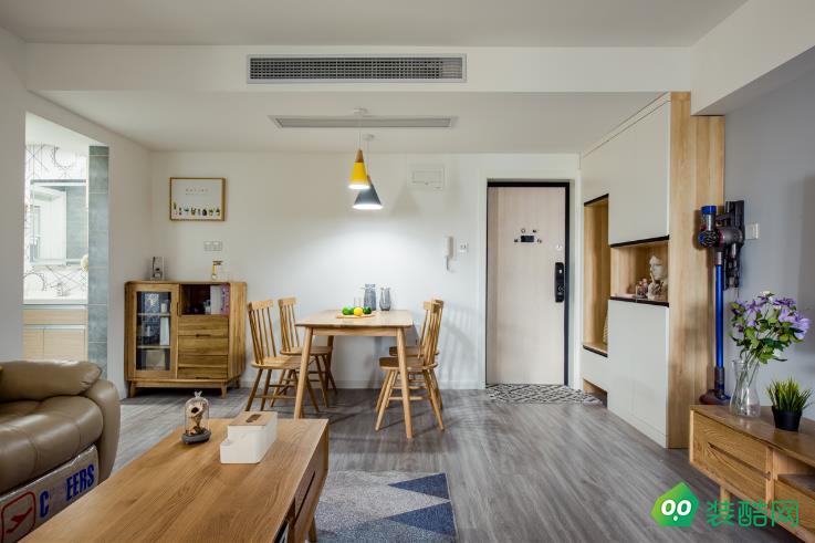 都匀83㎡两室北欧简约风格装修效果图-添智装饰