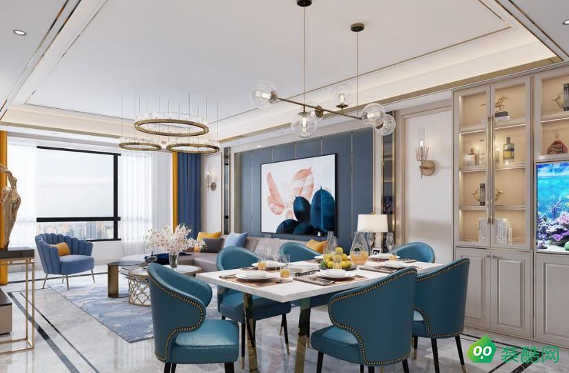 兴义-一居室-52㎡美式风格装修案例效果图