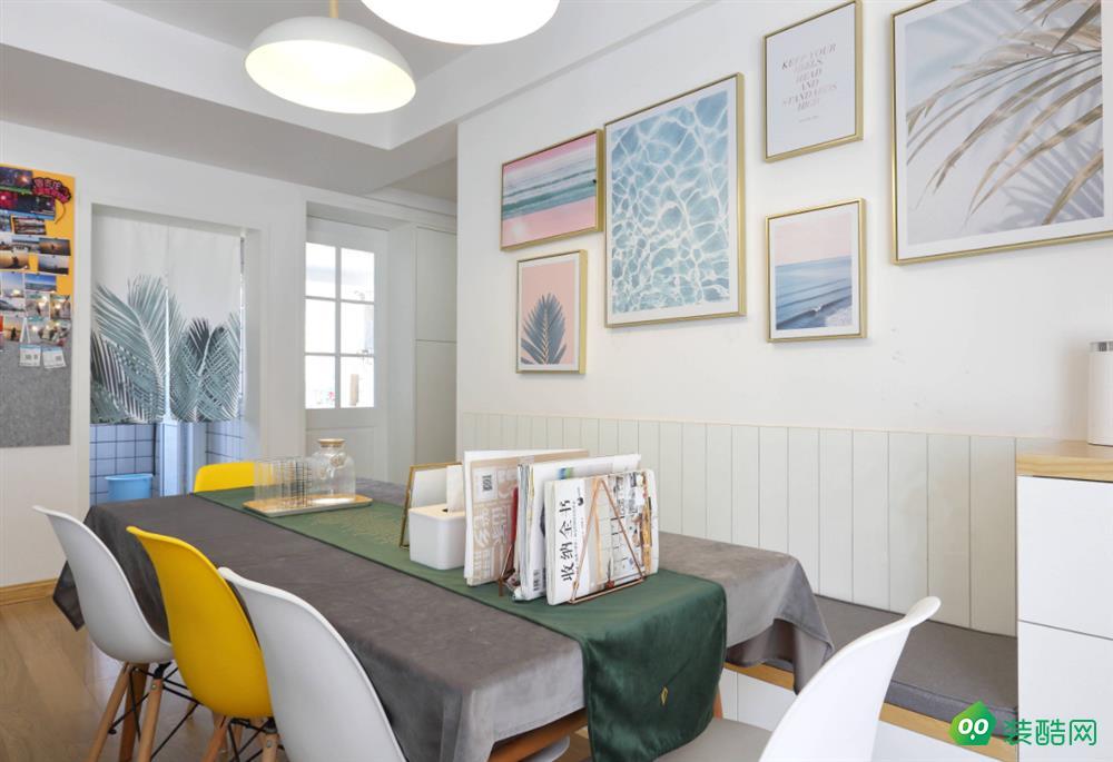 洛阳110平米北欧风格三室两厅两卫装修效果图