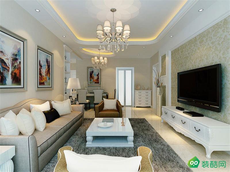 四季花城116平米歐式風格三居室裝修案例圖片-九上裝飾