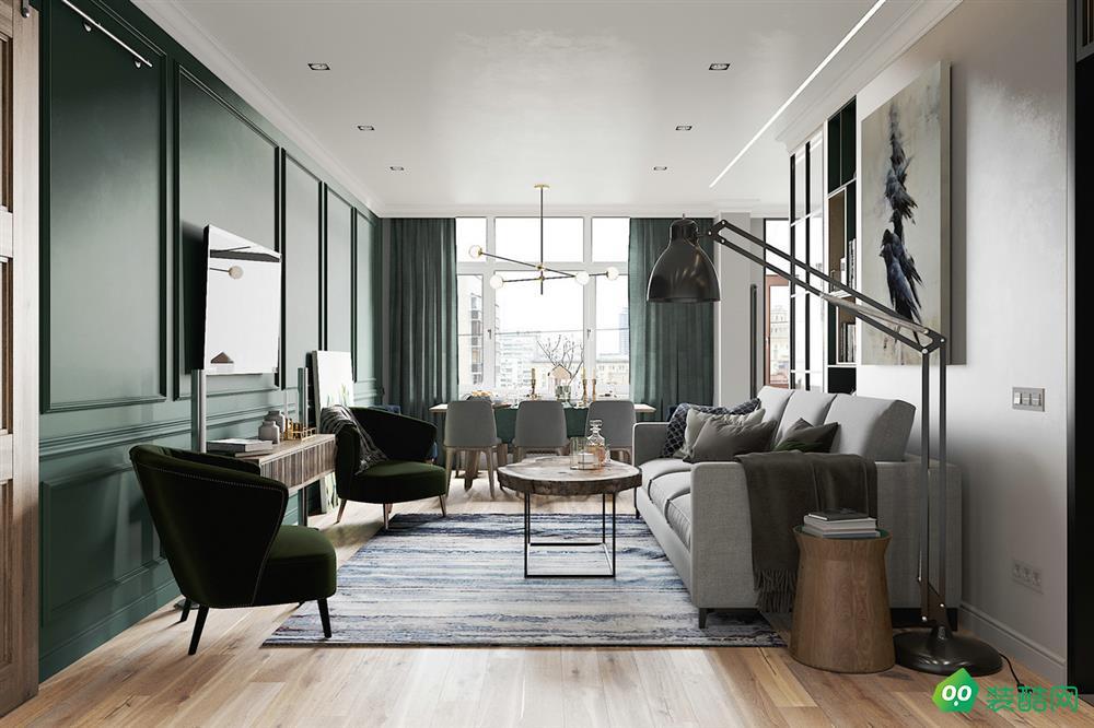 九木堂装饰-北欧风格95平三居室装修案例