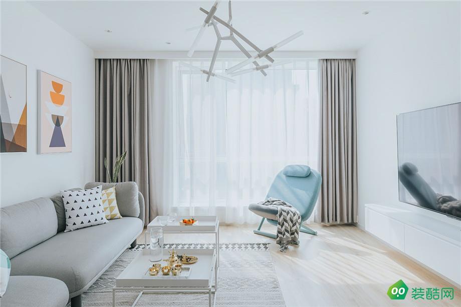 达州90平米北欧简约风格两居室装修案例图片-华泰装饰
