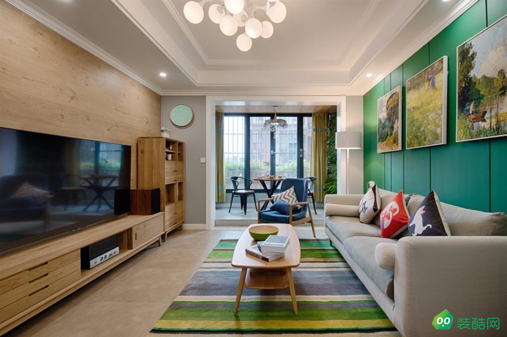 達州78平米歐式風格兩居室裝修案例圖片-華泰裝飾