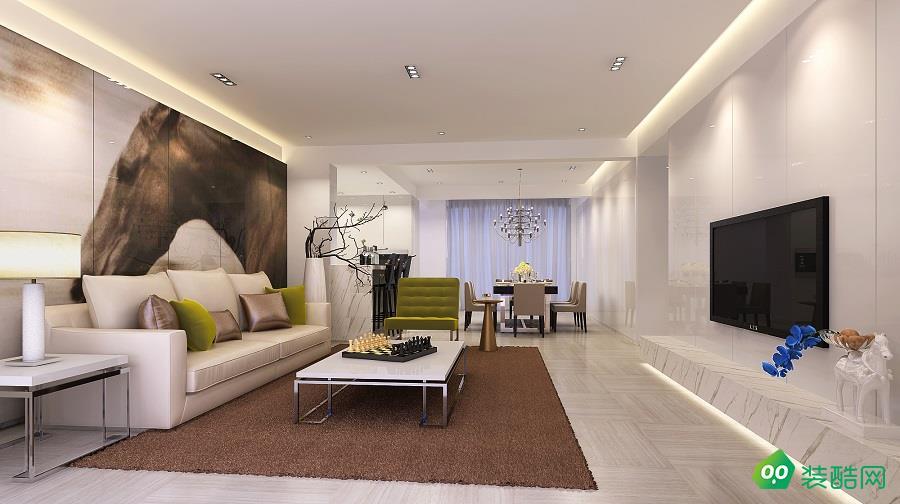 歐式風格三居室110平裝修案例