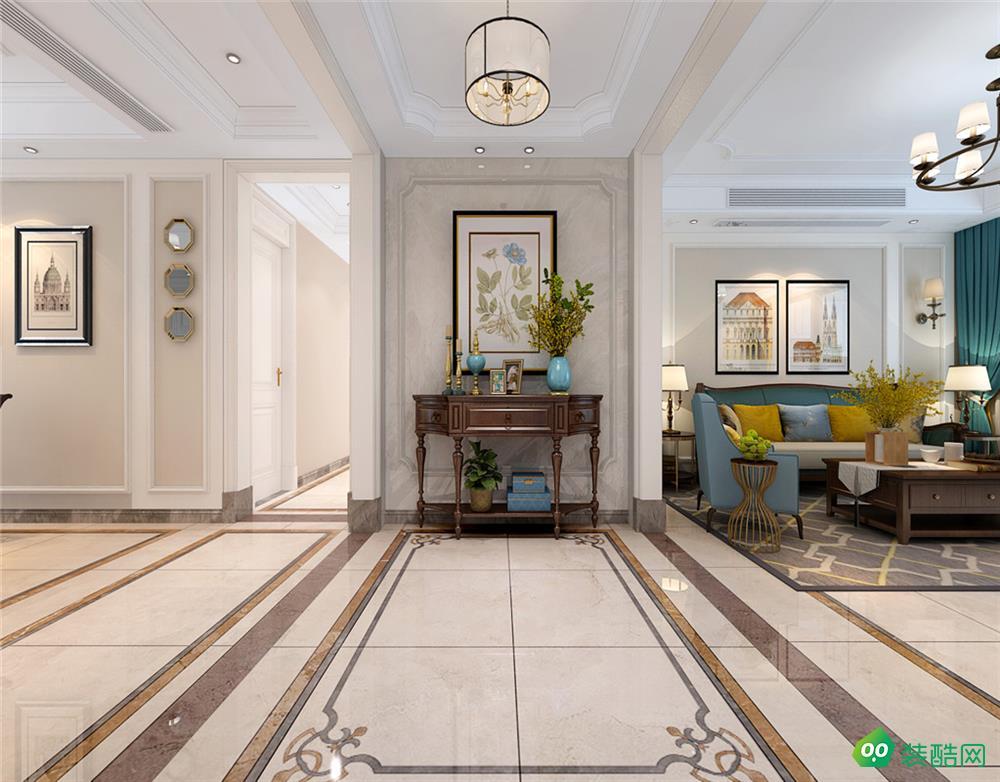 悦湖山苑、美式、170平米、四室两厅、