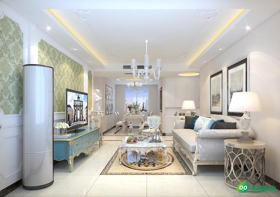達州135平米現代風格三室兩廳裝修案例圖片-昱帆裝飾