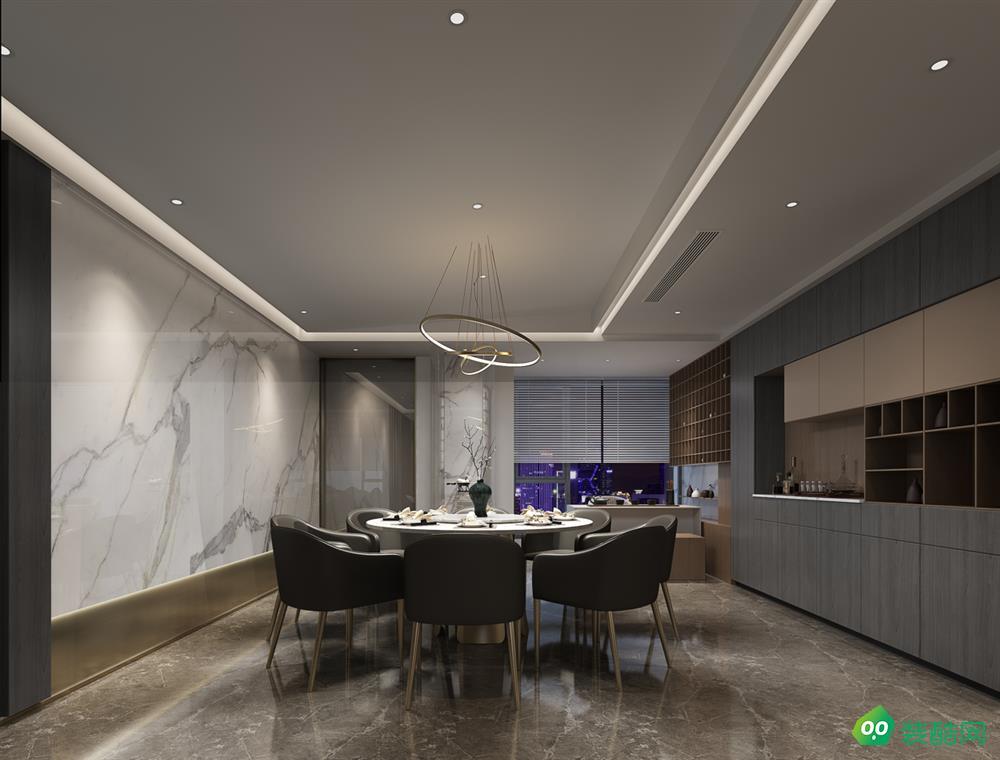 西安193平米新中式四室兩廳兩衛裝修效果圖