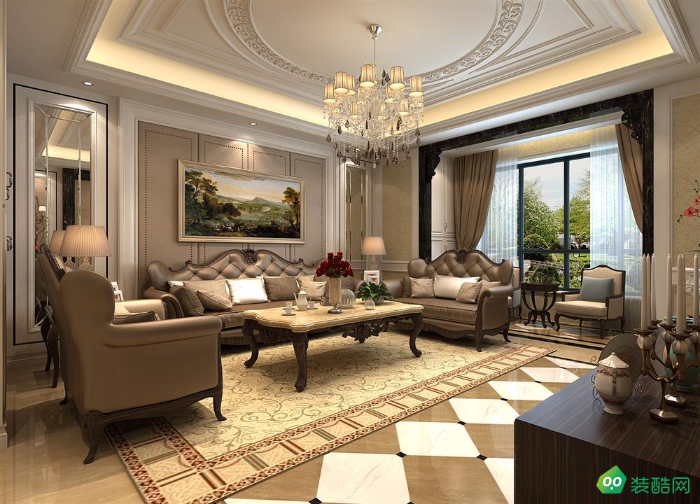 西安152平米古典欧式三室两厅两卫装修效果图