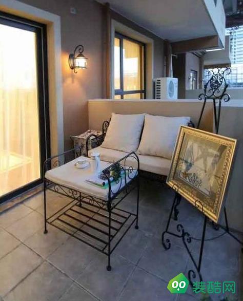 西安85平米地中海风格两室装修效果图