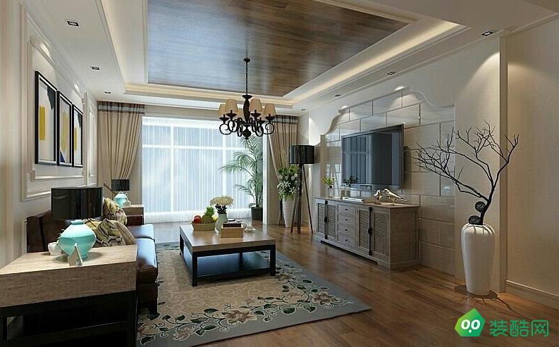 鄂州138平米美式風格四室兩廳兩衛裝修效果圖