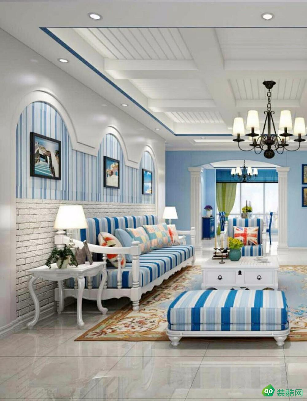 汇福山庄-120平米3居室-地中海风格装修效果图