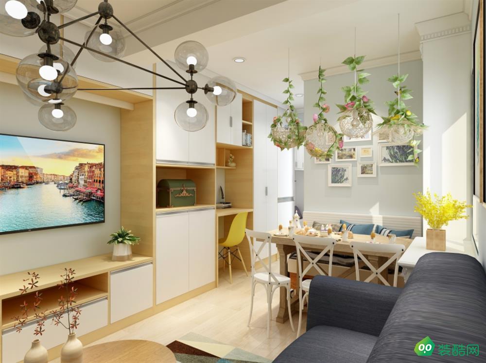 包頭85平兩室北歐風格裝修效果圖-東易日盛裝飾