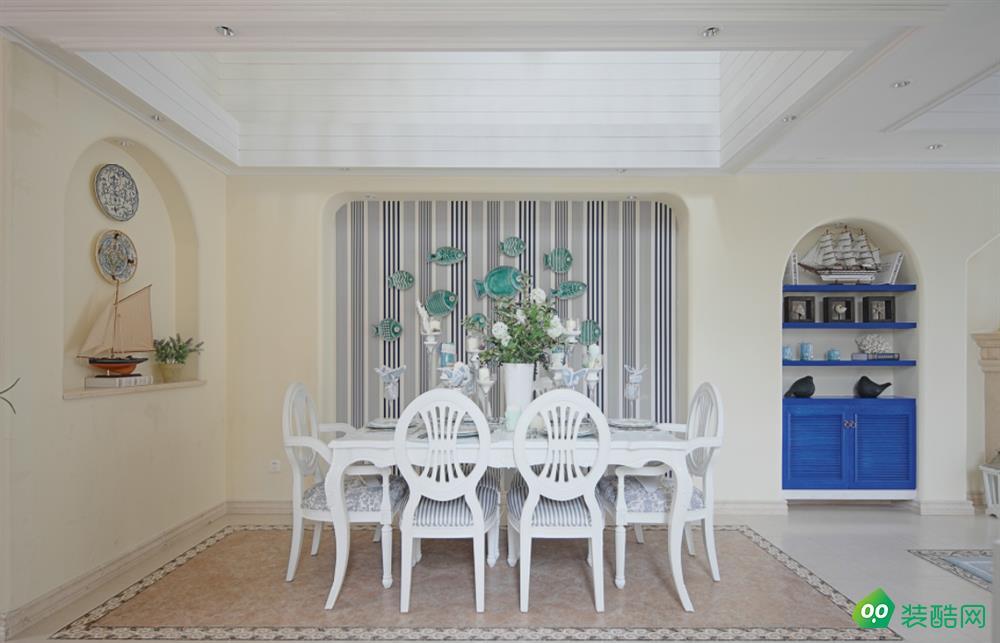 包头130平三室地中海风格装修效果图-交换空间装饰