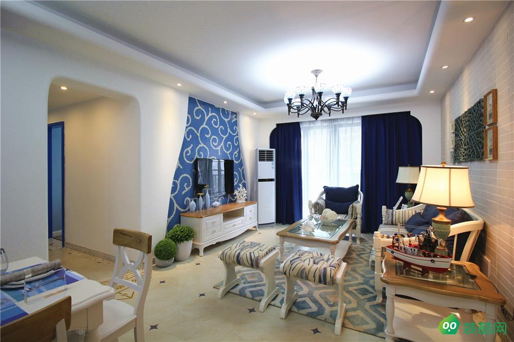 兴义-三居室-120平米地中海装修效果图