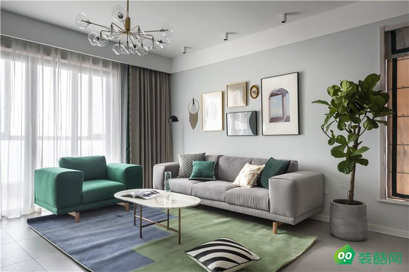 112平簡單北歐三居室設計