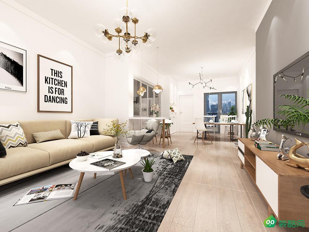 寧波北歐風格三居室122平裝修案例