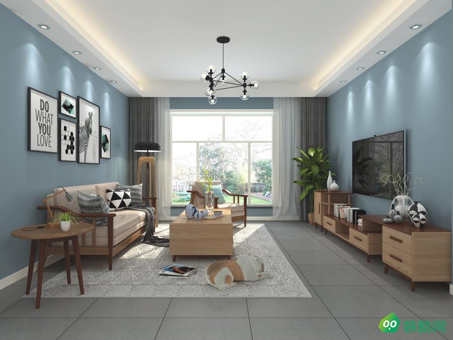 鹽城90平米北歐風格兩居室裝修案例圖片-亭湖景盛裝飾