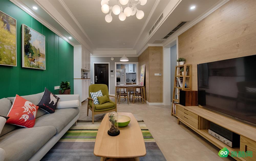 呼和浩特90平米三室歐式風格裝修效果圖-金螳螂家裝飾