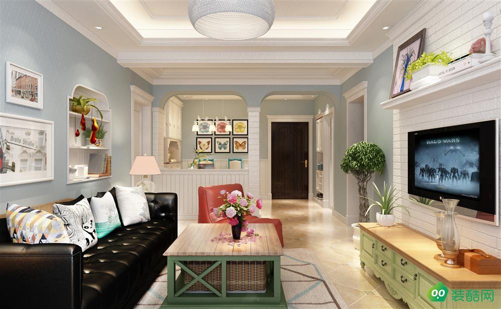 宜宾125平米地中海风格三居室装修案例图片-久宜装饰