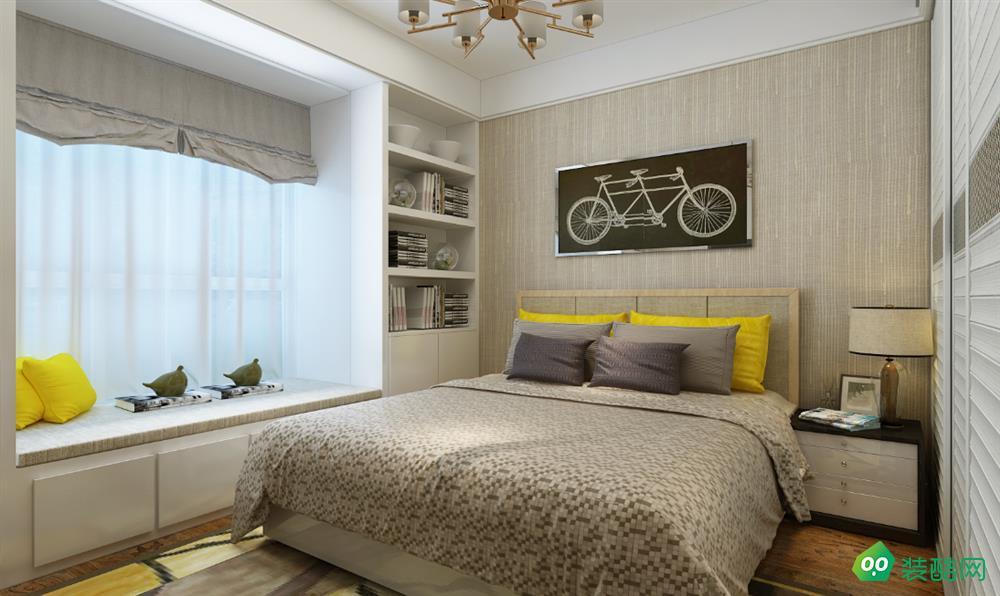呼和浩特130平米三室歐式風格裝修效果圖-蜜蜂裝飾