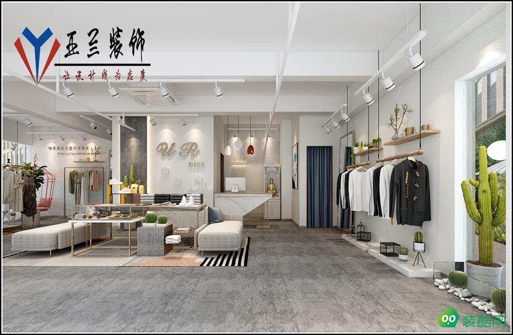 合肥180㎡中式服裝店裝修