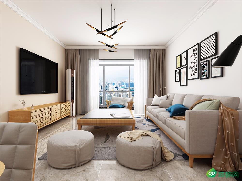 济南大成和信装饰-68.8平米两居室-现代风格装修效果图