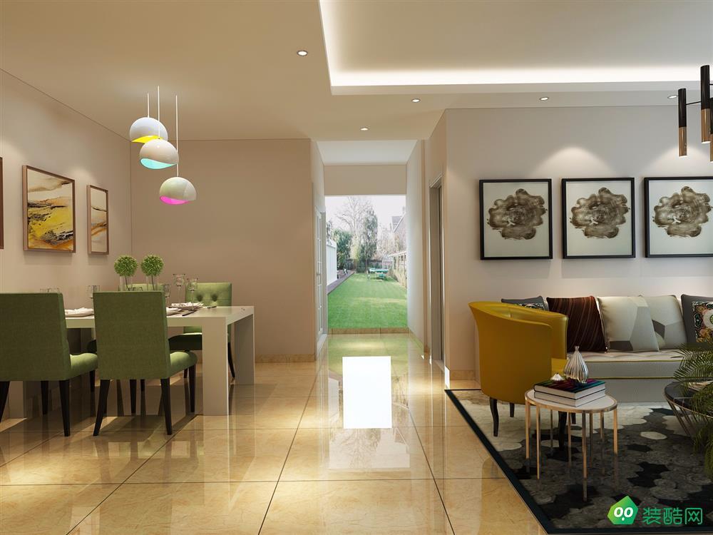76平米两居室-现代风格装修效果图