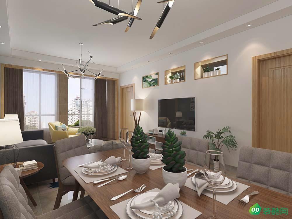 68.7平米两居室-北欧风格装修效果图