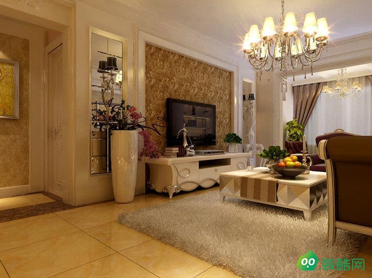 自貢簡歐風格119平三居室裝修案例