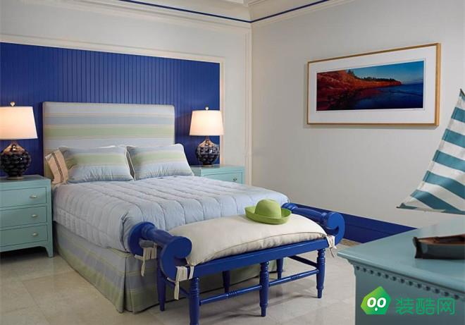 乐山80平米两室地中海风格装修效果图-本真装饰