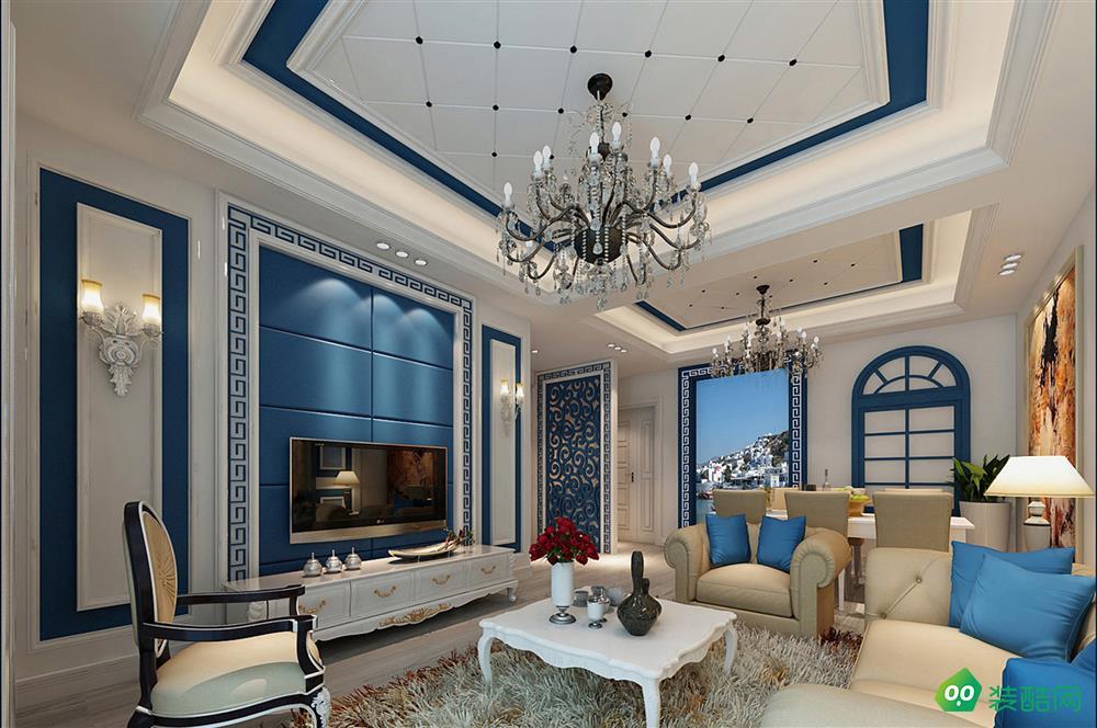 北岸江山80平米北歐風格小三室裝修案例圖片-美涵裝飾