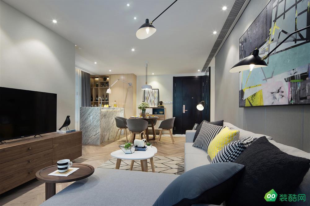 鳳凰灣120平米后現代風格三居室裝修案例圖片-美涵裝飾