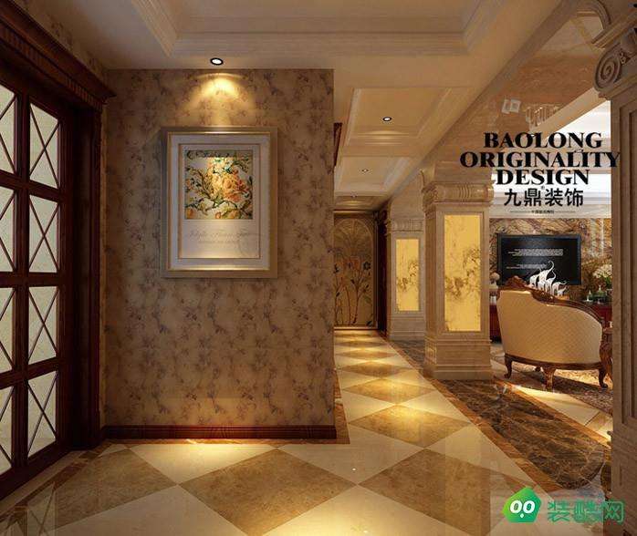 恒隆花园280平米美式风格别墅装修案例图片-九鼎装饰