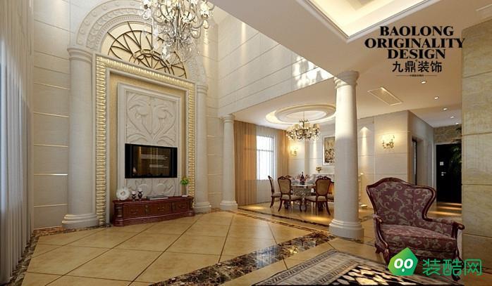 盐城260平米现代美式风格别墅装修案例图片-九鼎装饰