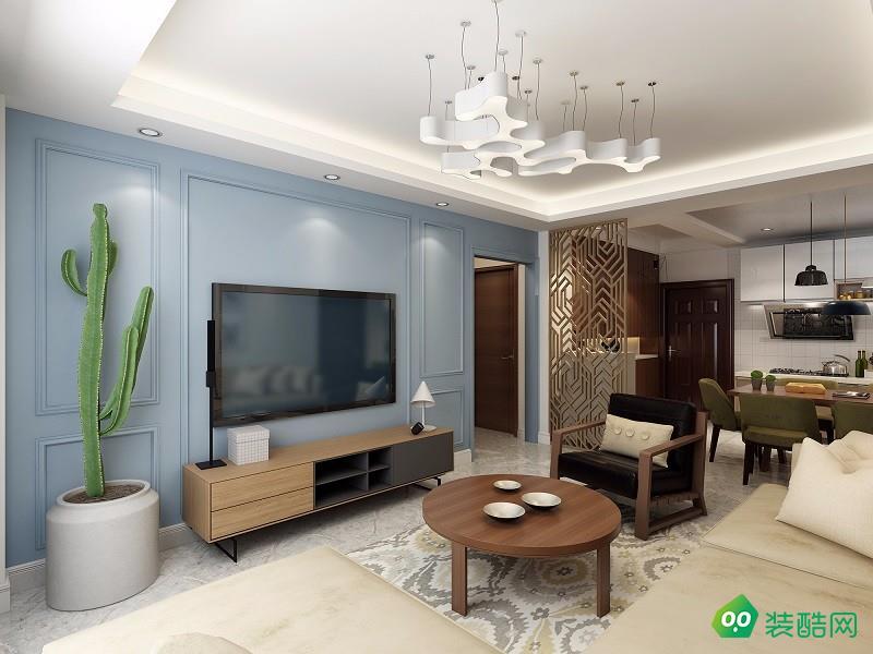 106平米三居室-簡約美式風格裝修效果圖