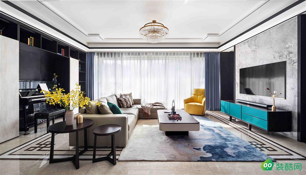 盐城150平米现代风格两居室装修案例图片-大地装饰