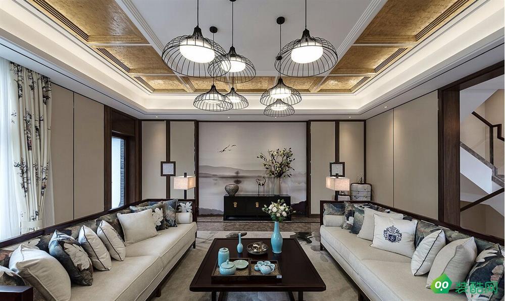 拉萨中式古典三居室150平装修案例