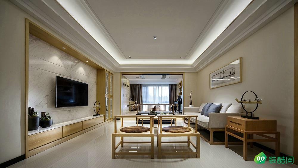 上海200平米新中式风格别墅装修案例图片-尚高装饰