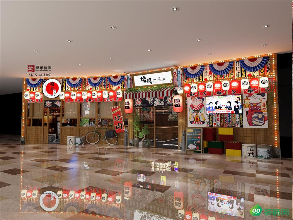 济南日式和风料理特色餐饮店餐厅装修设计公司