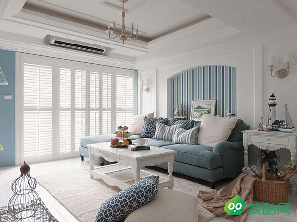 上海118平米地中海风格三室两厅装修案例图片-尚高装饰