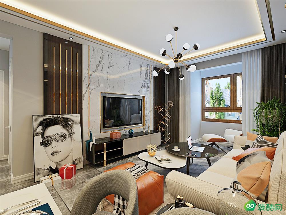 大足60平米现代简约风格两居室装修案例图片-达豪装饰