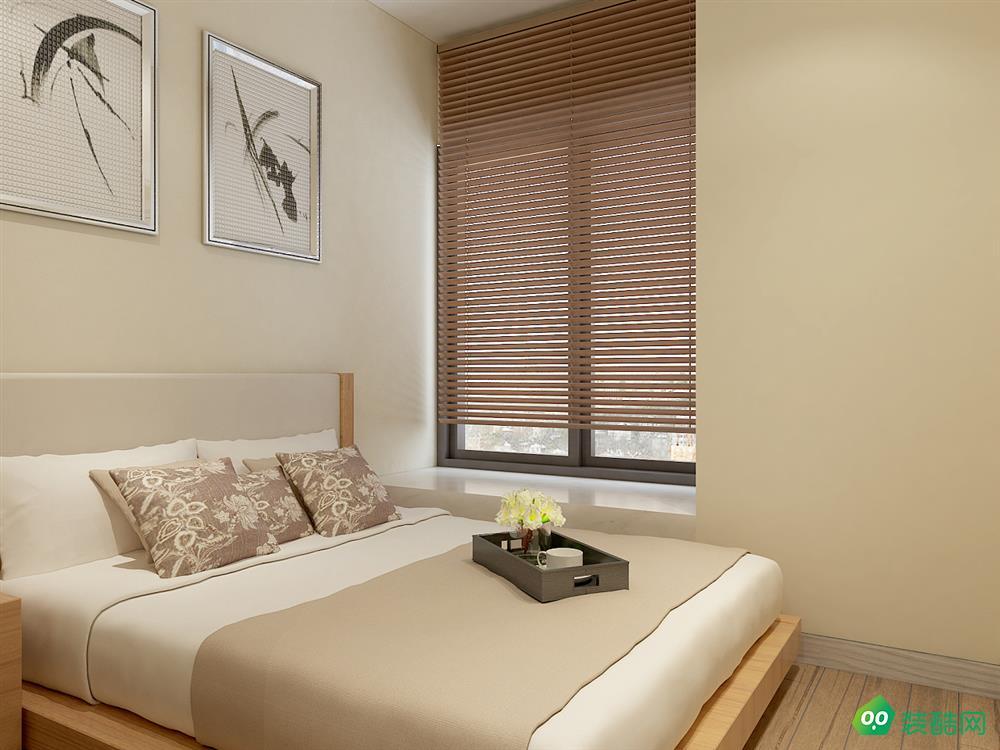 哈尔滨110平米现代中式风格三室装修效果图