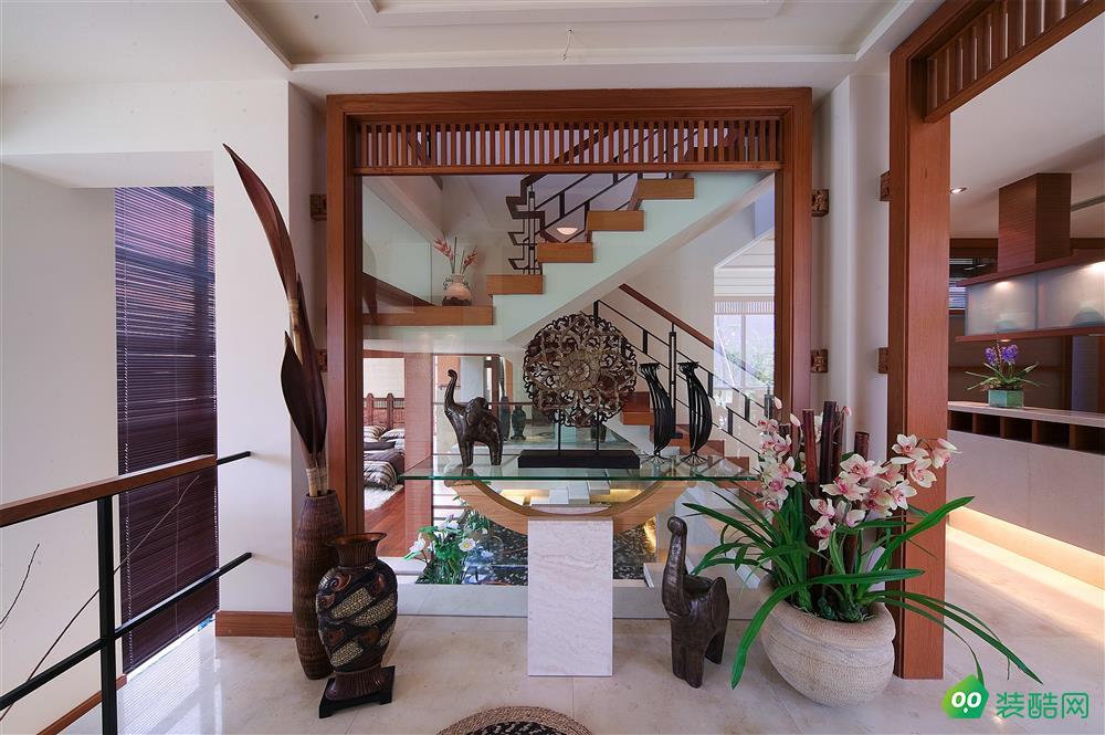 重慶140平米新中式風格躍層住宅裝修案例圖片-嘉能裝飾