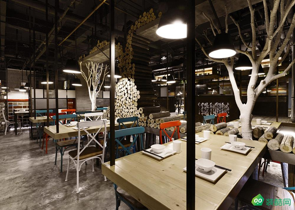 300平餐飲店混搭風裝修
