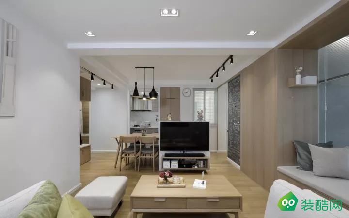 璧山91平米现代风格两居室装修案例图片-嘉能装饰